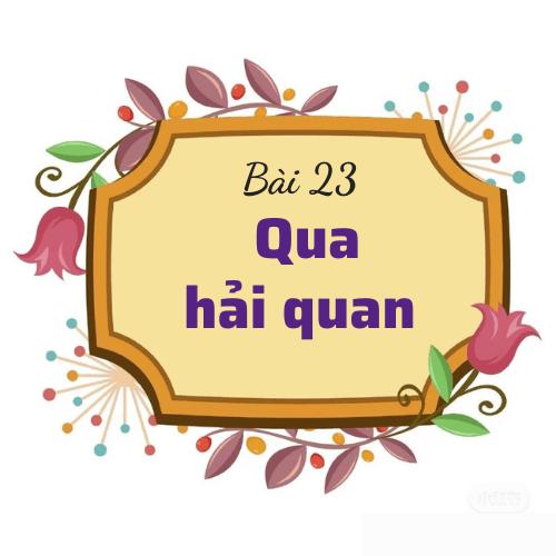 Bài 23: Qua hải quan